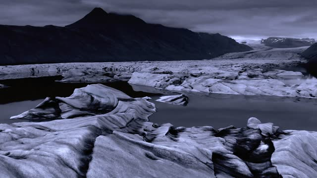 ice floes in a polar night - glacier stock videos & royalty-free footage