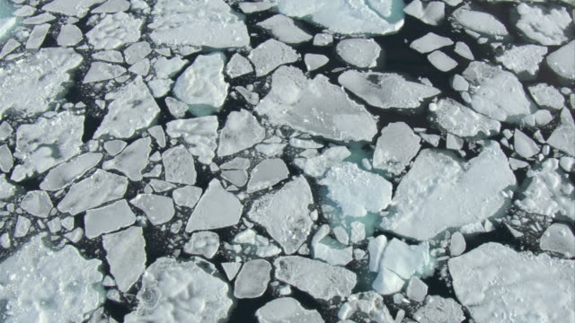 ice fragments float in baffin bay near baffin island in canada. - ice floe stock videos & royalty-free footage