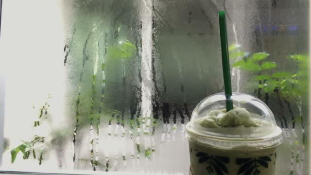 Ice green tea smoothie