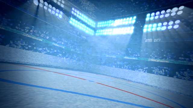 ice hockey arena background loop - ice rink stock videos & royalty-free footage
