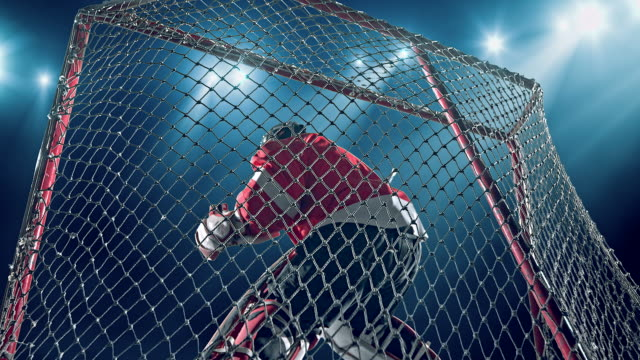 ice hockey goalie - goalkeeper stock videos & royalty-free footage