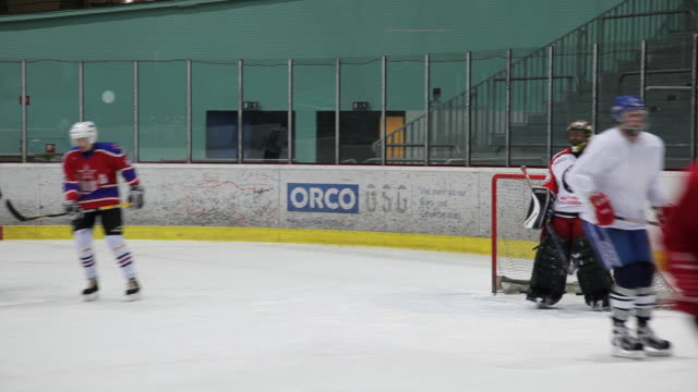 MS PAN Ice hockey team playing and training, Berlin, Germany