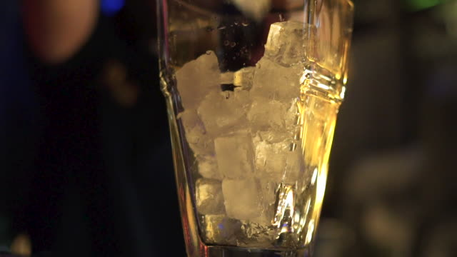 ice ice baby - bar drink establishment stock videos and b-roll footage