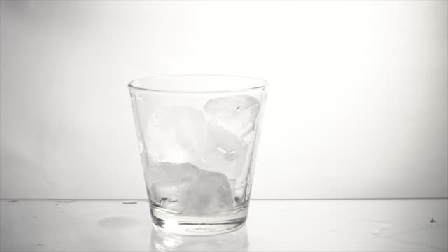 ice in a glass - bowl stock videos & royalty-free footage