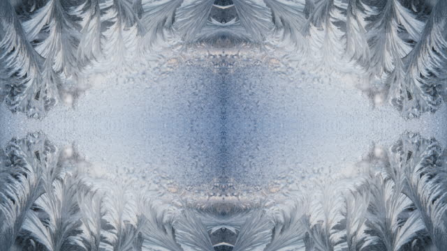 zo / ice mandala, kaleidoscope effect of ice crystals - mandala stock videos & royalty-free footage