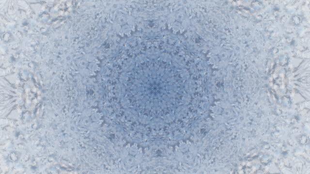 zo / ice mandala, kaleidoscope effect of ice crystals - kristall bildbanksvideor och videomaterial från bakom kulisserna