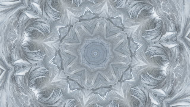 zo / ice mandala, kaleidoscope effect of ice crystals - ice crystal stock videos and b-roll footage