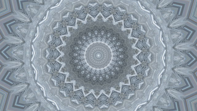 zi / ice mandala, kaleidoscope effect of ice crystals - mandala stock videos & royalty-free footage