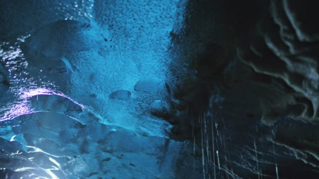 ms ice melting in ice cave - ice stock videos & royalty-free footage
