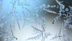 Ice melting on window timelapse