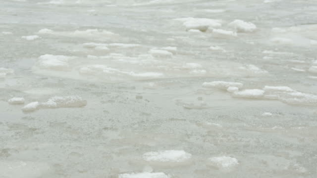 ice pattern backgrounds winter nature cold river water abstract - natural pattern stock videos and b-roll footage