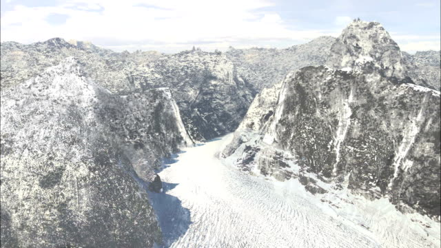 vídeos de stock, filmes e b-roll de ice rises and lowers changing the landscape in a canyon. available in hd. - erodido