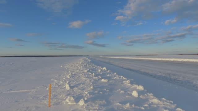 ice roads - frozen stock videos & royalty-free footage