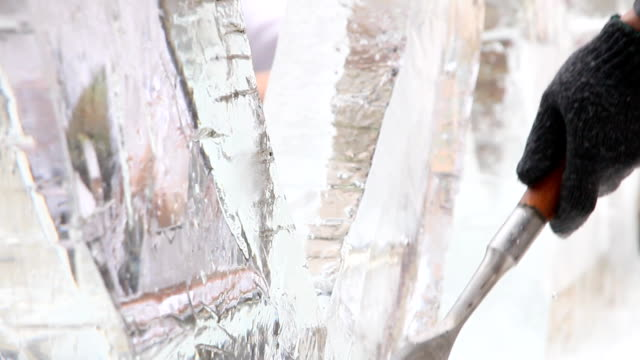 ice sculpture carving - sculpture stock videos & royalty-free footage