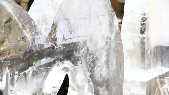 ice sculpture carving - carving craft activity stock videos and b-roll footage