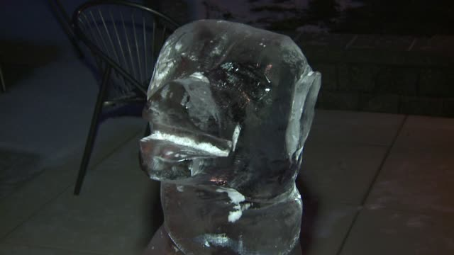 wxmi ice sculpture contest displays art on january 04 2013 in holland michigan - schneefestival stock-videos und b-roll-filmmaterial