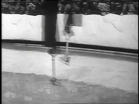 1939 ice skaters performing / new york, new york - ice skating stock videos & royalty-free footage