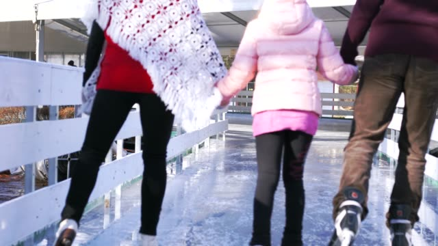 ice skating in the ice rink - ice skating stock videos & royalty-free footage