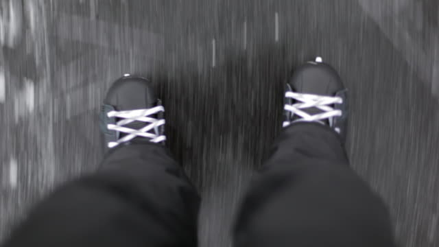 ice skating (pov) - ice skating stock videos & royalty-free footage