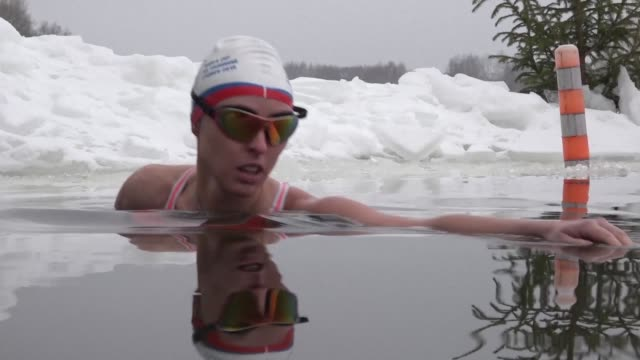 Ice swimming in Russia has long been associated with older usually Speedo clad men