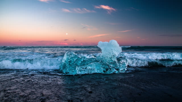 Eisberg am Jökulsárlón Strand - 4 K Natur/Tierwelt/Wetter