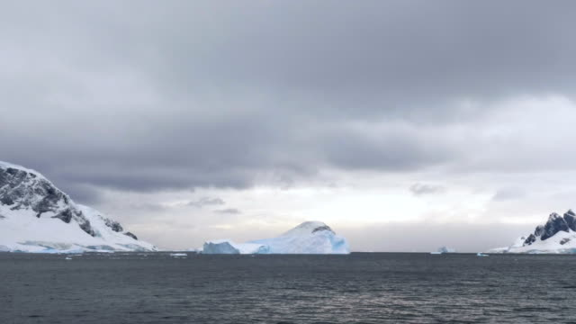 iceberg formation in antarctica - ice floe stock videos & royalty-free footage