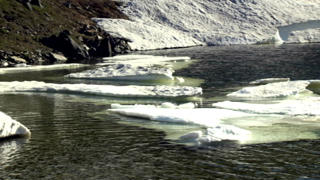 氷山のある水 - 金属融解点の映像素材/bロール