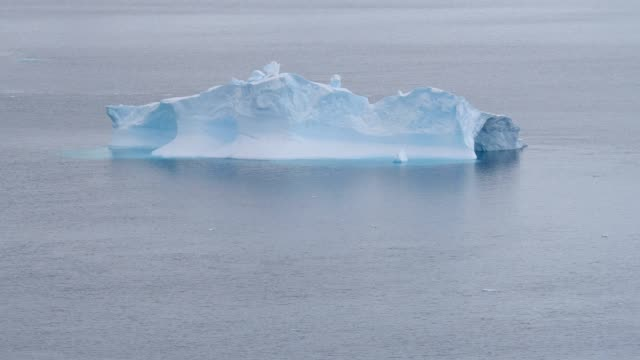iceberg in the antarctic peninsula - antarctica iceberg stock videos & royalty-free footage