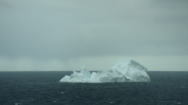 iceberg on arctic waters near canada - northwest passage stock videos and b-roll footage