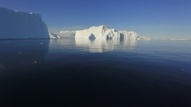 pov iceberg on calm water / greenland - boat point of view stock videos & royalty-free footage