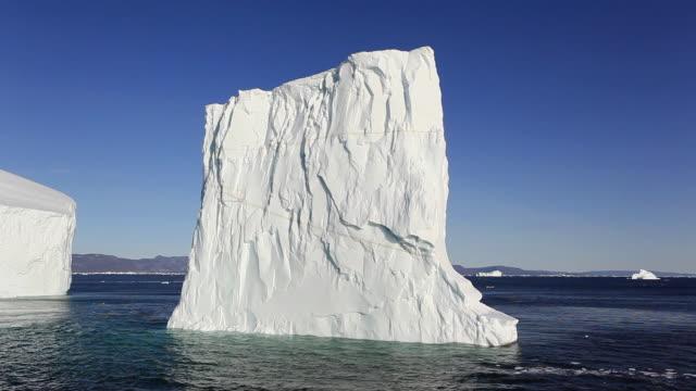 pov iceberg on calm water / greenland - arktis stock-videos und b-roll-filmmaterial