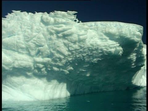 iceberg, pleaneau bay, antarctic peninsula, antarctica - felswand stock-videos und b-roll-filmmaterial