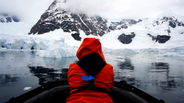 iceberg tour - antarctica people stock videos & royalty-free footage