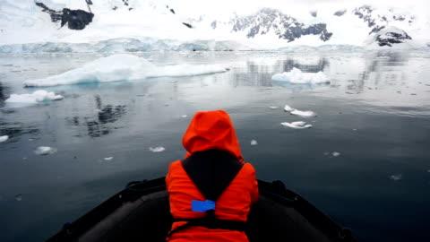 vidéos et rushes de tour de l'iceberg - pôle sud