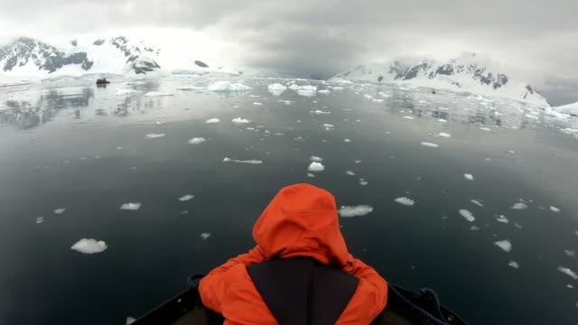 iceberg tour - antarctica melting stock videos & royalty-free footage