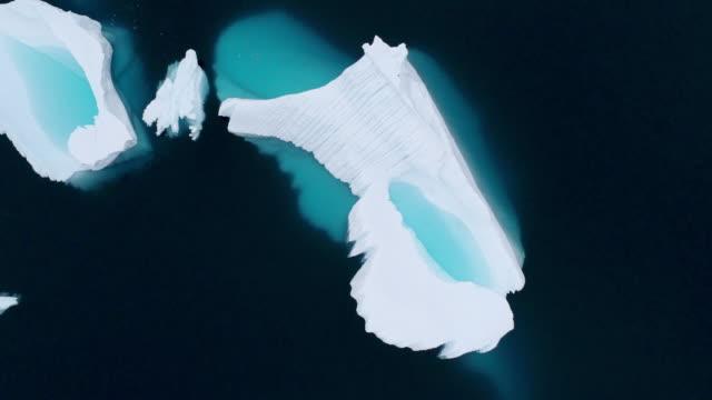 iceberg - antarctica drone stock videos & royalty-free footage