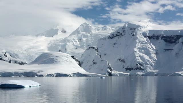 Icebergs and Antarctic coast