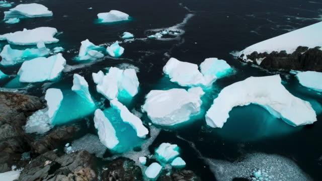 icebergs and coast - antarctic peninsula stock videos & royalty-free footage