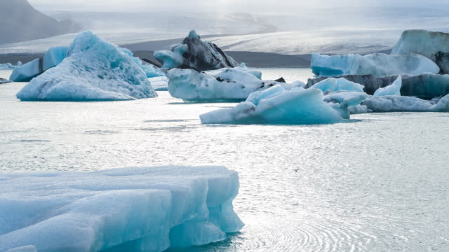 icebergs at glacier lagoon - icecap stock videos & royalty-free footage