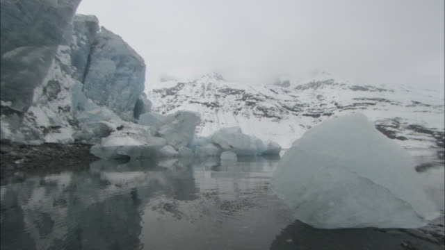 icebergs float in prince william sound. - prince william stock videos & royalty-free footage
