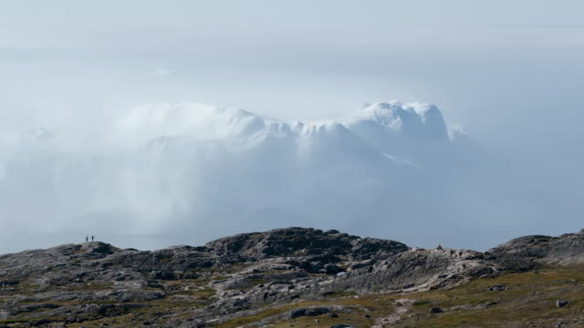 icebergs float in the ilulissat icefjord during a week of unseasonably warm weather on august 3 2019 near ilulissat greenland the sahara heat wave... - western europe stock videos & royalty-free footage