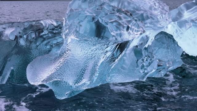 icebergs from dawes glacier, endicott arm, alaska - ice stock videos & royalty-free footage