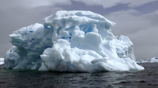 Icebergs in Andvors Bay, Antarctic Peninsula, Southern Ocean