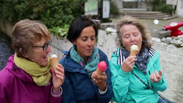 ice-cream treat - mature adult stock videos & royalty-free footage