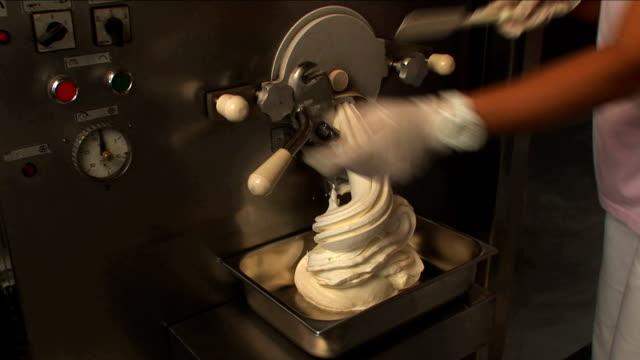 ice-creams machine. - cream dairy product stock videos & royalty-free footage