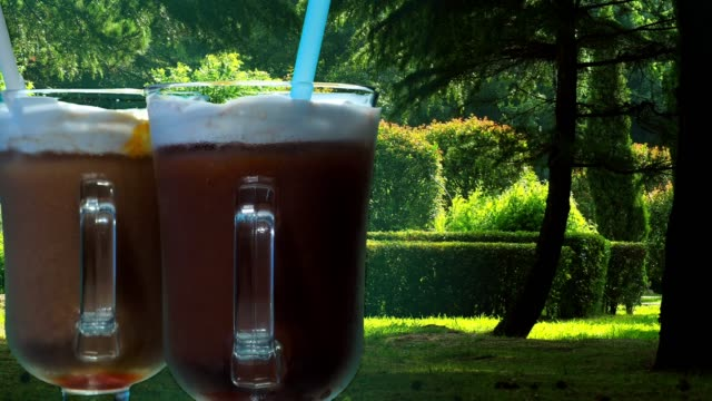 Iced coffee drinks