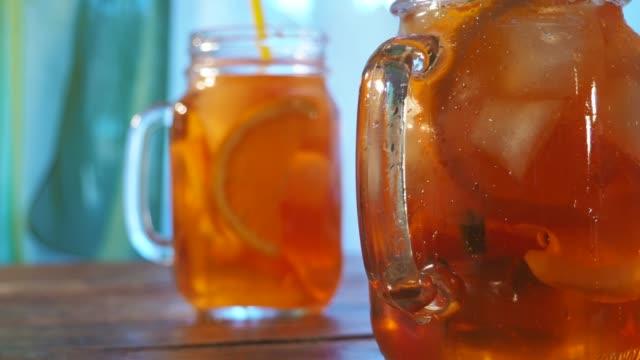 iced tea - slice stock videos & royalty-free footage