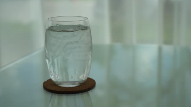 iced water on dinning table