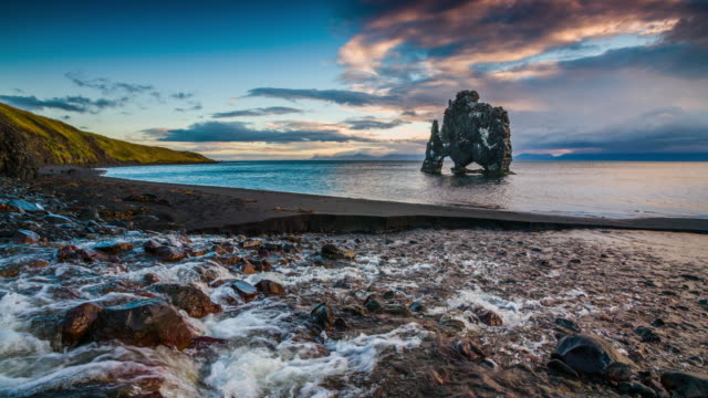 Island Küste bei Hvitserkur