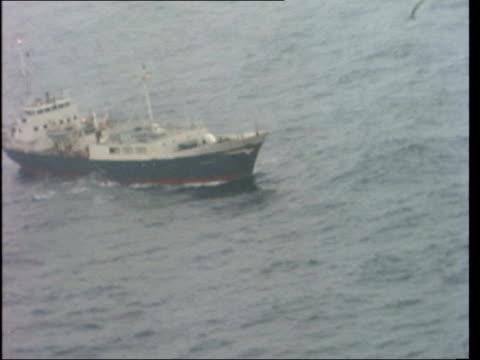 b sea reykjavik ext air view 2 trawlers rl air view 'miranda' air view 2 trawlers air view 'statesman' rl fast air view peter scott air view 'odin'... - doe stock videos & royalty-free footage